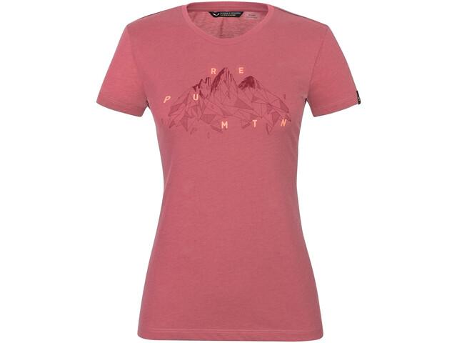 SALEWA Geometric T-Shirt À Manches Courtes Femme, mauvemood melange